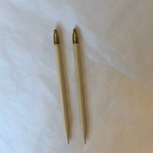 Udskiftelige rundpinde tipper 14 cm 8-10 mm