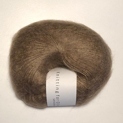 Soft Silk Mohair -Nøddebrun
