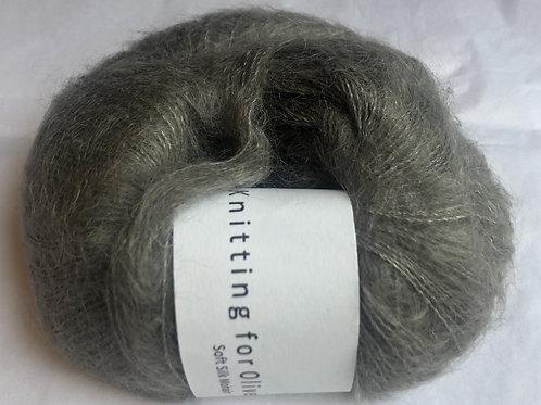 Soft Silk Mohair -Gråbrun