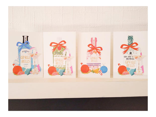 4 Pack Christmas Cards