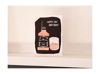 21st birthday card jack daniels