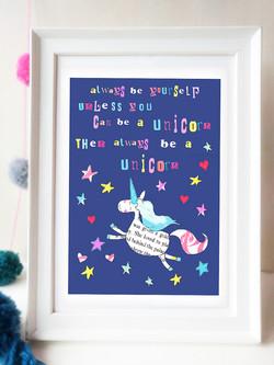 Unicorn Wall Art Printable