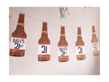 21st birthday decorations Budweiser