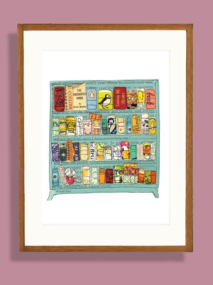 Little Women Bookcase Art Printable