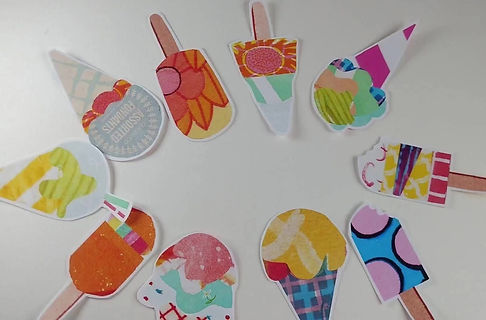 free printbale summer icecream garland or bookmark