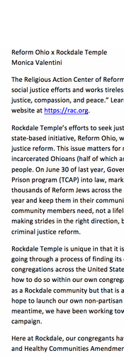 Reform Ohio x Rockdale