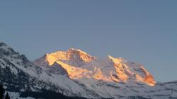 Jungfrau Sonnenuntergang