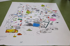 Parcouir la Villette - coloriages pour étudiants