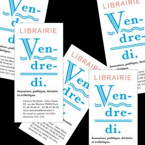 Marque page Librairie Vendredi