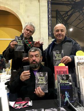 Les auteurs : Pablo Cueco, Milomir Kovacevic et Rocco au Salon du livre Halle Blancs Manteaux