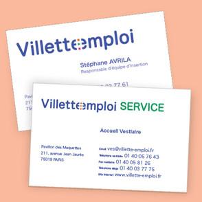 Villette emploi — cartes de visite