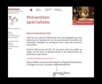 APSV site internet page interne