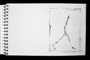 Pages internes Un certain parcours, l'homme qui marche de Giacometti