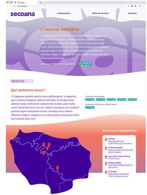 Secoana, page d'accueil du site internet