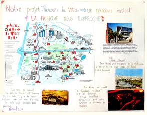 Parcouir la Villette - collage des étudiants