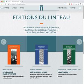 éditions du Linteau, site internet