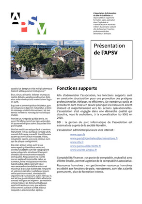 APSV plaquette, page interne