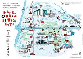 Parcouir la Villette - affiche 40x60 cm