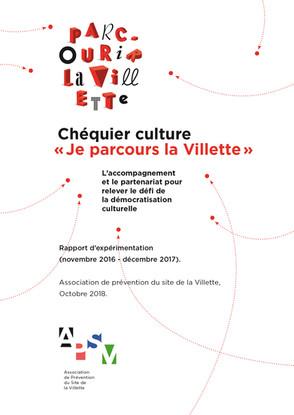 """Parcouir la Villette - Rapport expérimentation """"Chequier culture"""""""