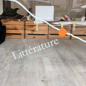 Au Pays des Livres – installation principe graphique vitrines