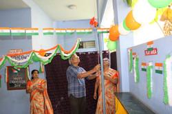 National Flag hoisted by Correspondent
