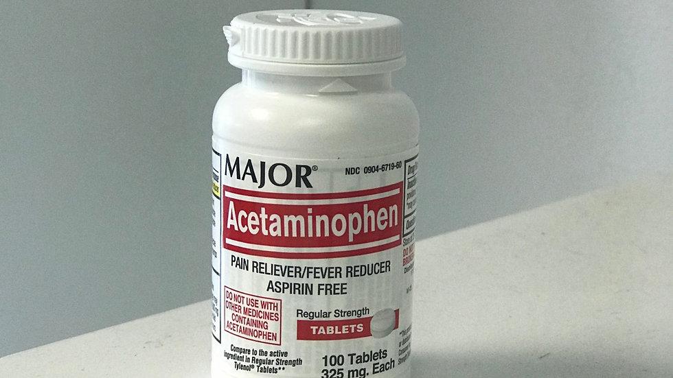 Generic Acetaminophen 325mg 100tabs