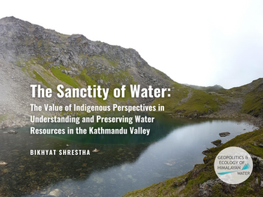 The Sanctity of Water: