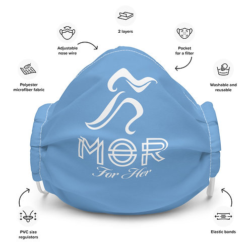 """""""Ice Blue"""" MOR For Her Facemask"""