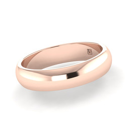 Rose Gold Half Round- Rolled Edge