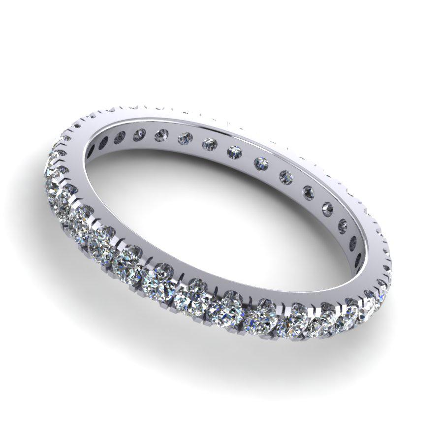 Micro Claw Set Round Diamond Circle
