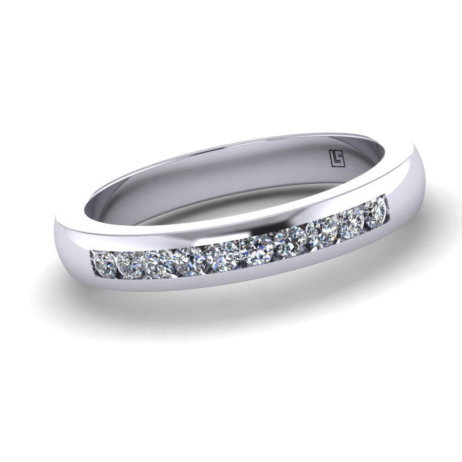 Channel Set Brilliant Diamond