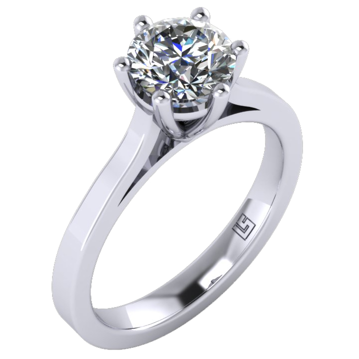 Four Claw Round Cut Diamond Solitaire