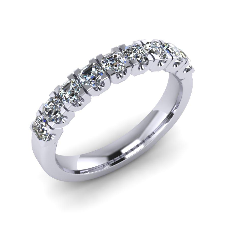 Claw Set Radiant Cut Diamond Band