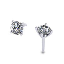 Four Claw Diamond Stud