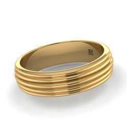 Yellow Gold Five Wire Convex Band