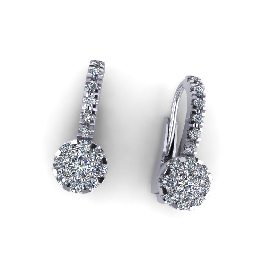Diamond Cluster with Diamond Hoop