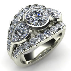 All-In-One Diamond Wedding Ring