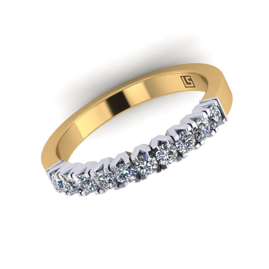 Micro Claw Set Round Diamond Band