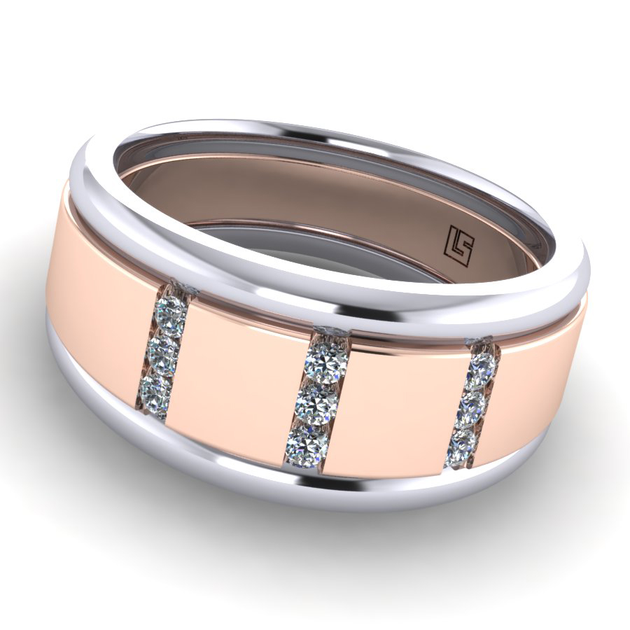 Brushed Rose Gold with white edges