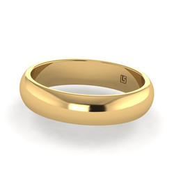 Yellow Gold Half Round- Rolled Edge