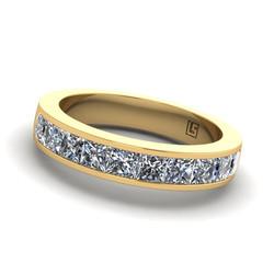 Channel Set Princess Cut Diamond Ban