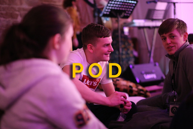 Our Discipleship Team faciliate a small group each week during term time called PoD [Pocket of Disciples]. PoDs follow a four week cycle of 2 input sessions, mentoring, and accountability.