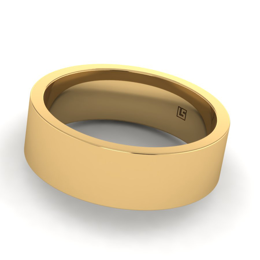 Yellow Gold Brushed Finish Band
