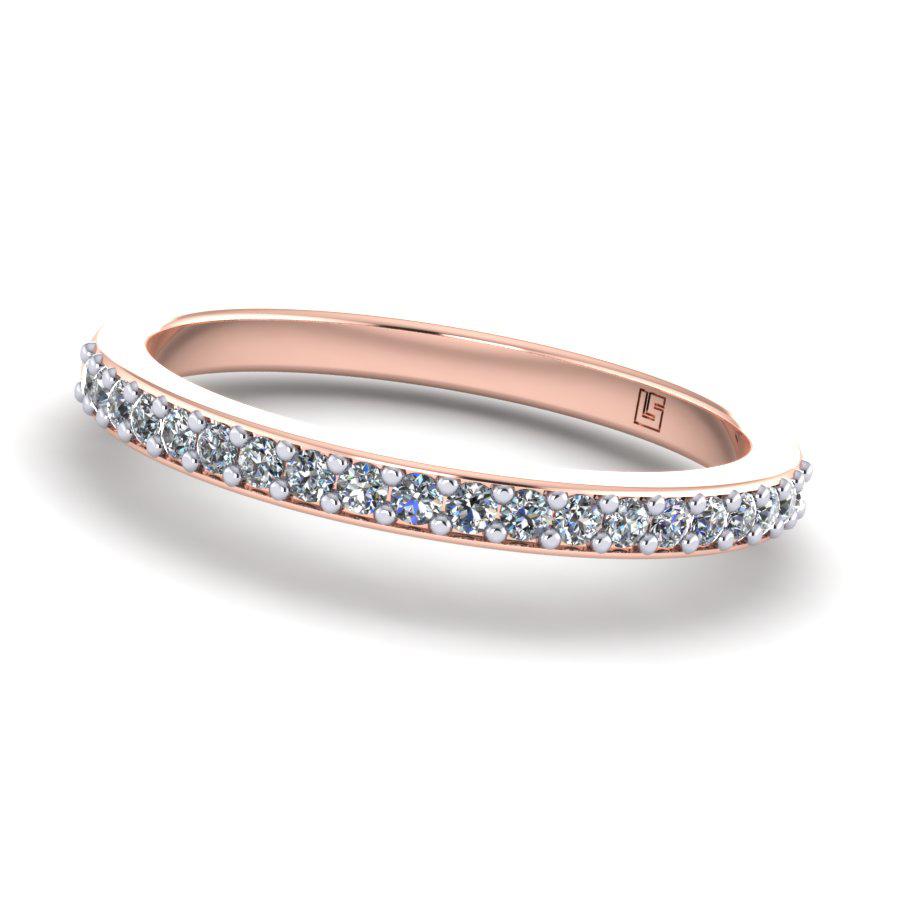 Bead Set Diamond Half Circle