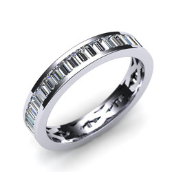 Channel set Baguette Diamond Circle