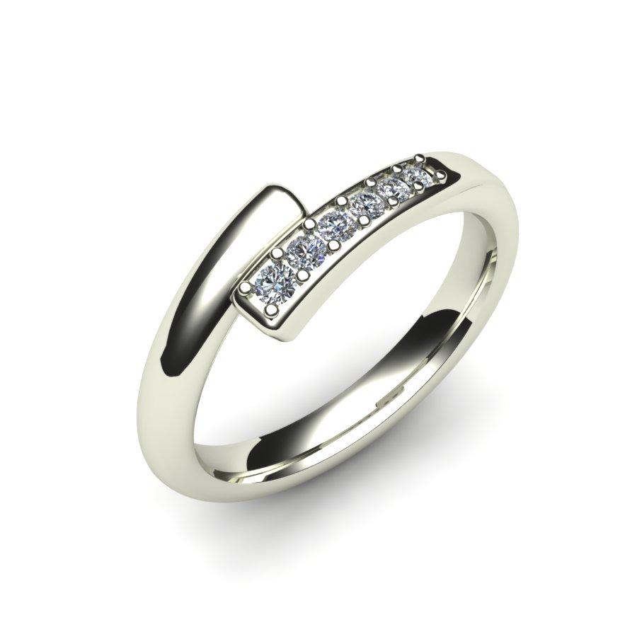 Custom Fitted Diamond Wedding Ring