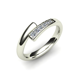 Custom Fitted Diamond Wedding Ring