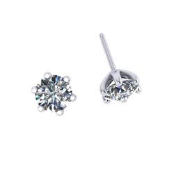 Six Claw Diamond Studs
