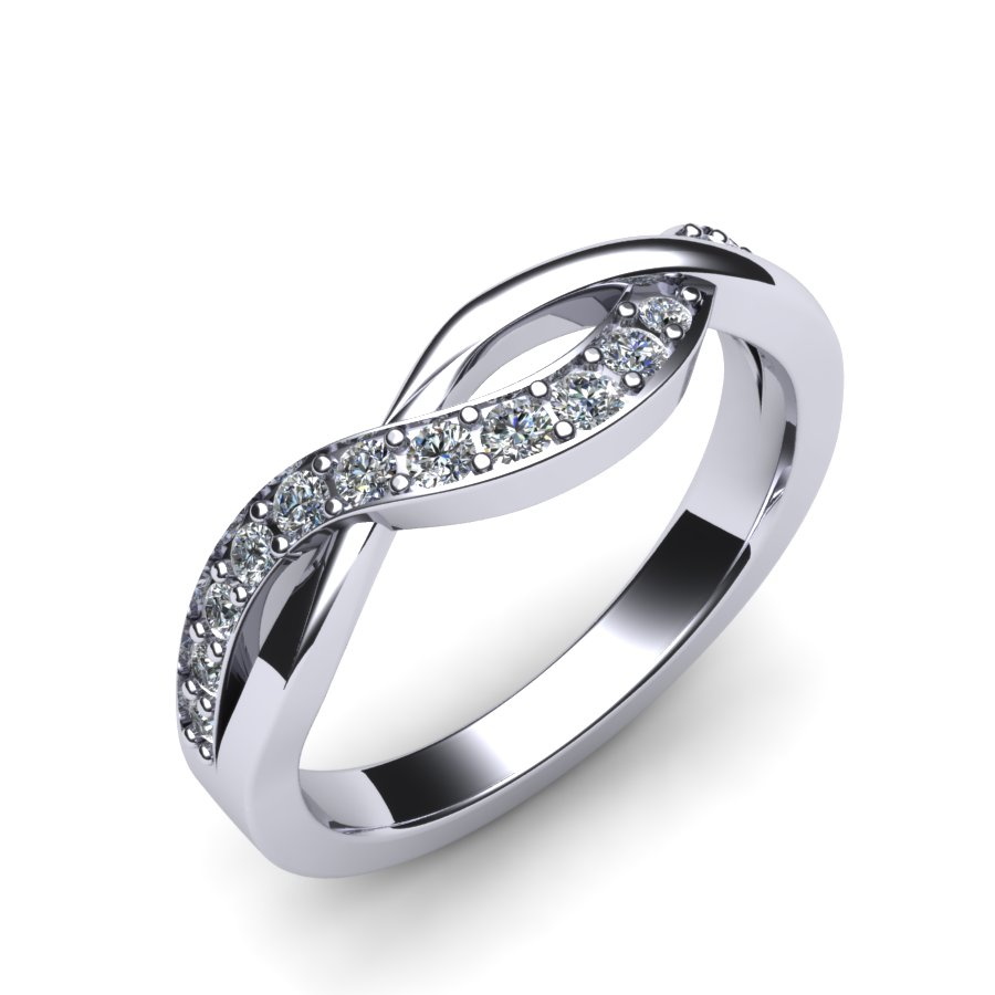 Custom Diamond Set Weave Design