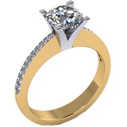 Four Claw Round Cut Diamond Solitair